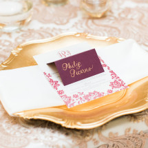 Custom Calligraphy Wedding Place Card