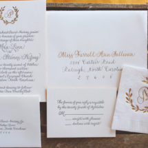 Custom Calligraphy Wedding Invitation Suite & Duogram