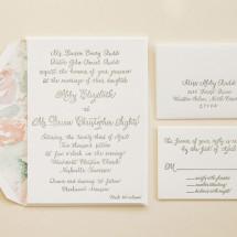 Custom Calligraphy Wedding Invitation Suite