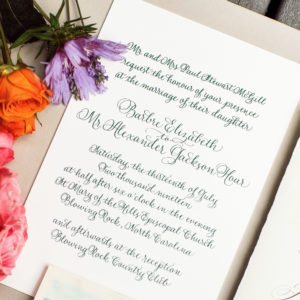 Calligraphy by Carole Invitation