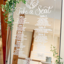 Custom Calligraphy Mirror Seating Chart